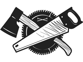 The CarpentryCTG is a small sticker, which are show the 50 Carpentry CTG sticker in cartoon