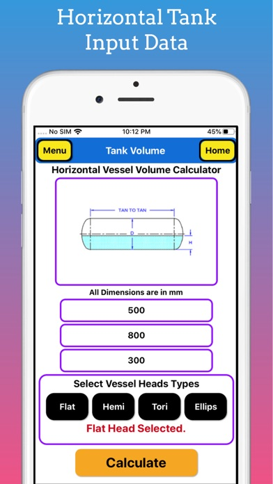 Tank Volume Calculator Pro screenshot 4