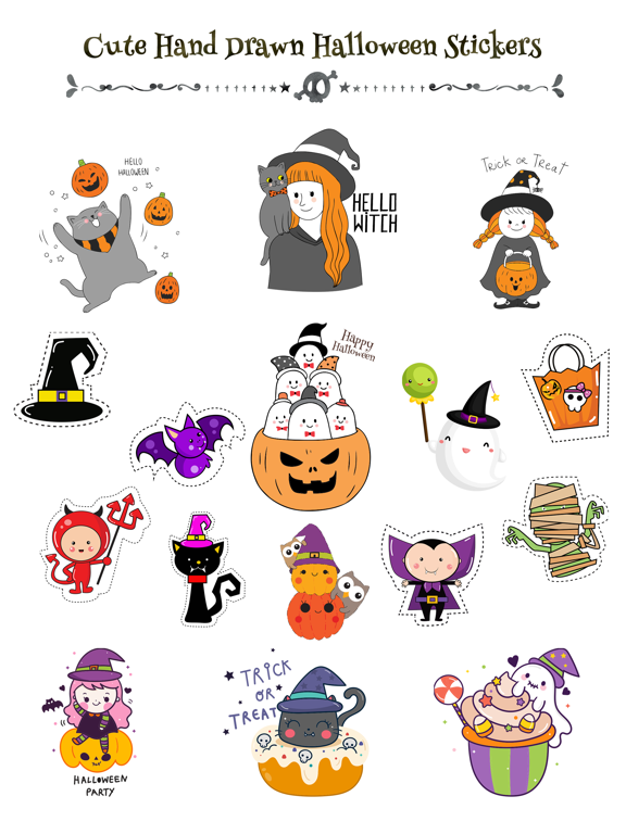 260+ Cute Hand Drawn Halloween screenshot 6
