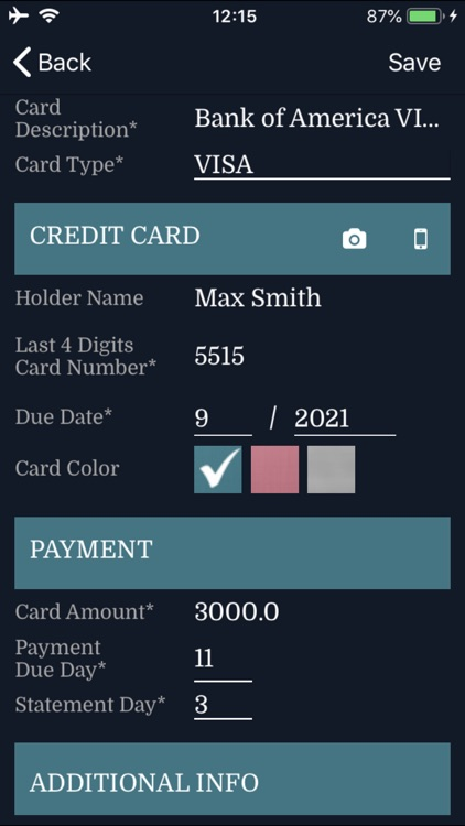 Credit Card Expenses Manager