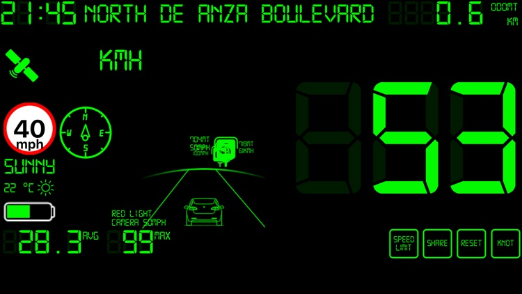 Speedmeter mph digital display screenshot-6