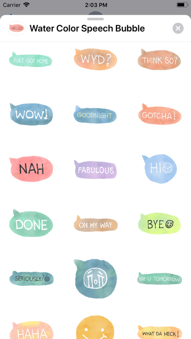 Water Color Speech Bubble screenshot 2