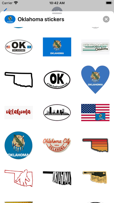 Oklahoma emoji - USA sticker screenshot 2