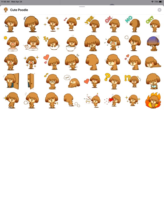 Cute Poodle Sticker Pack screenshot #1