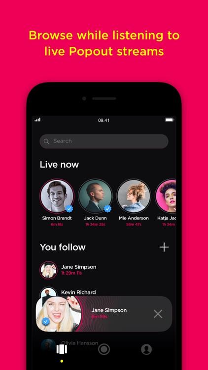 Popout-live social audio app screenshot-9