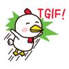 Little white chick sticker