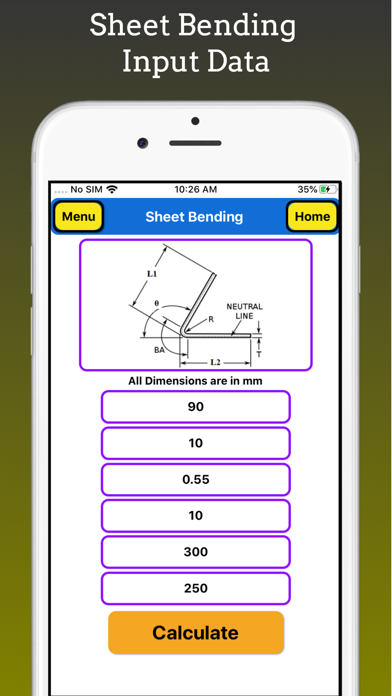 Sheet Bending Calculator Pro screenshot 2