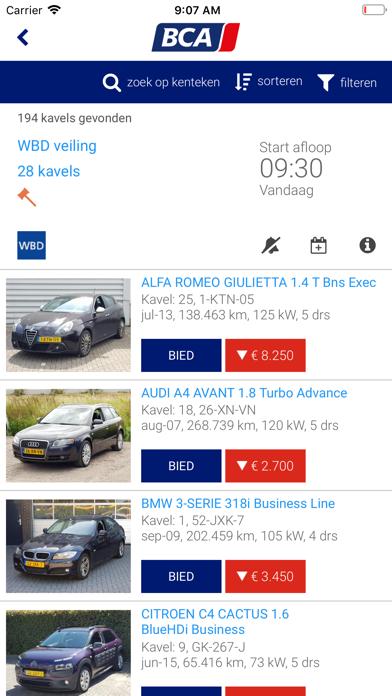 BCA Autoveiling screenshot two