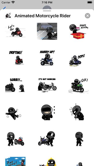 Animated Motorcycle Rider screenshot 3