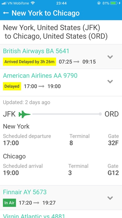 Flights Status screenshot-3