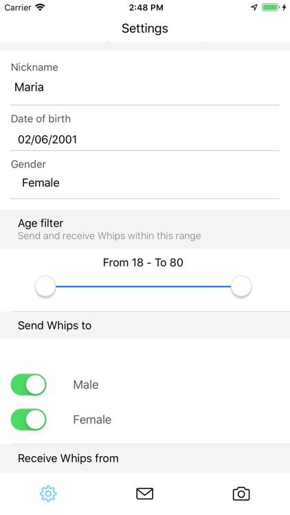 Whip - Social Network