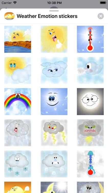 Weather Emotion stickers
