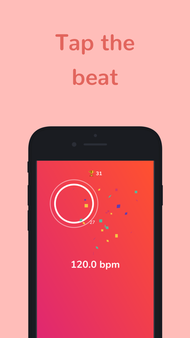 bpm - Tap Tempo Counter + Game screenshot one