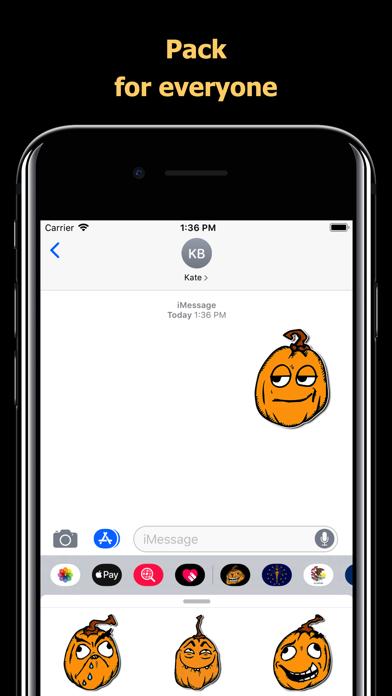 Halloween Mem emoji - pumpkin screenshot 4