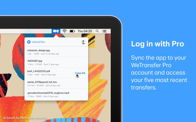 WeTransfer on the Mac App Store