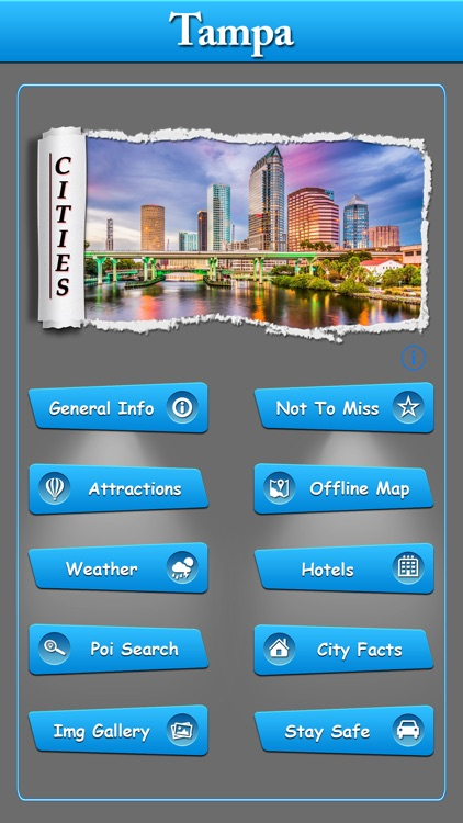 Tampa Offline Map City Guide