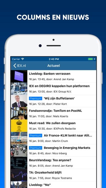 IEX.nl Beleggingsinformatie screenshot-3