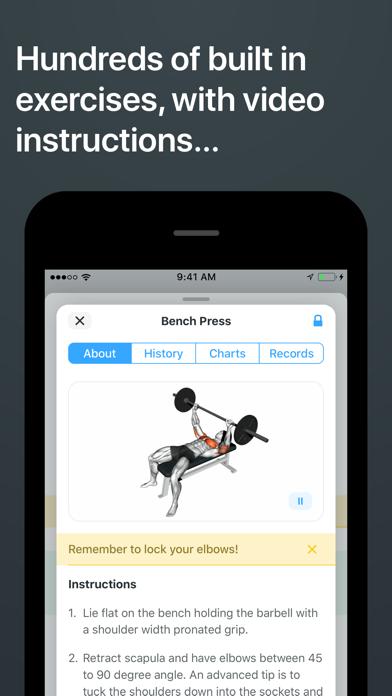 Strong Workout Tracker Gym Log review screenshots