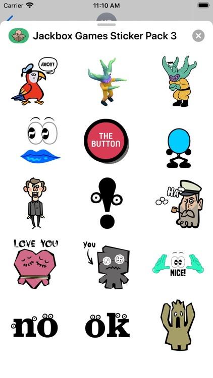 Jackbox Games Sticker Pack 3
