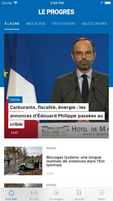 Le Progrès screenshot one