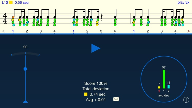 Rhythm Sight Reading Trainer screenshot-0