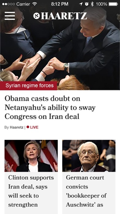 Haaretz English Edition Screenshot