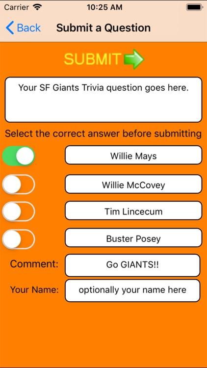 Trivia Game for SF Giants fans screenshot-8