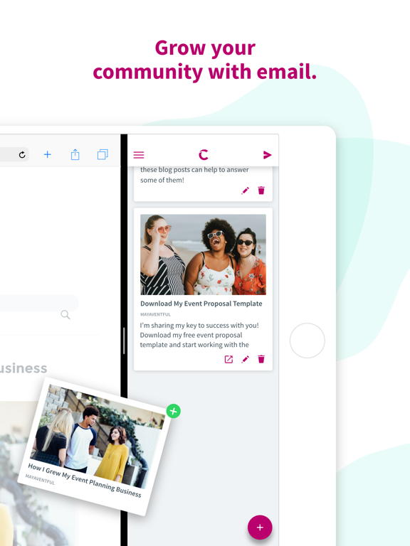 Ipad Screen Shot Curate: Simple Email Marketing 1