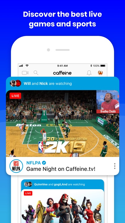 Caffeine: Live Streaming