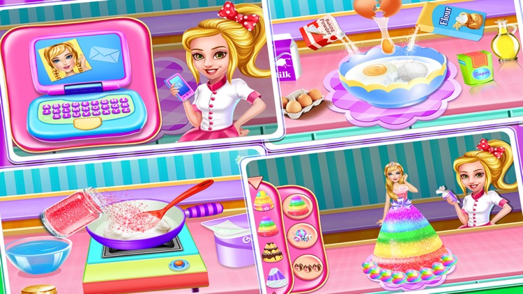 Christmas Doll Cooking Cakes screenshot-3