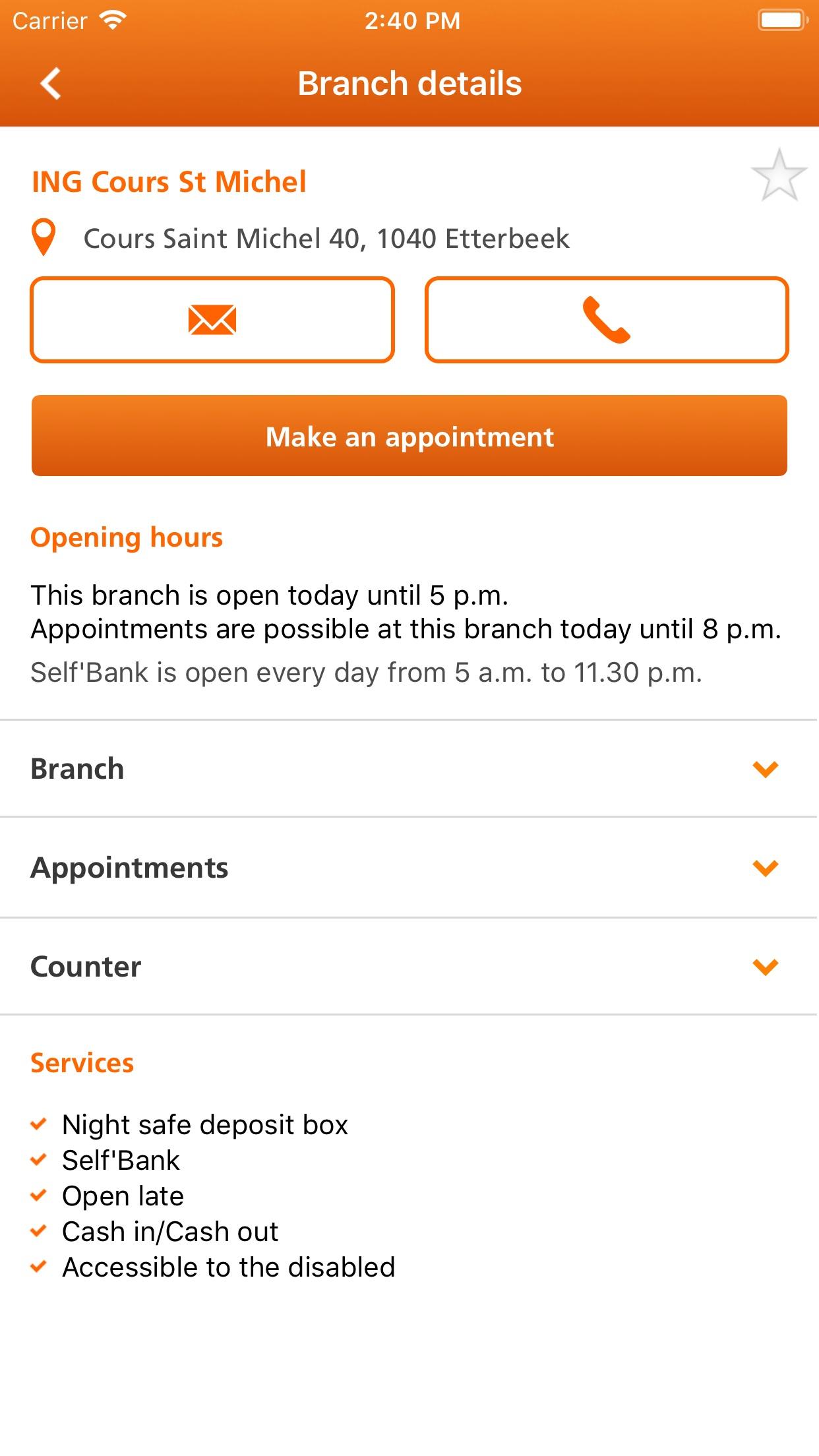 ING Smart Banking for iPhone Screenshot