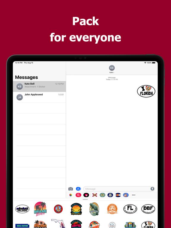 Florida emojis - USA stickers screenshot 9