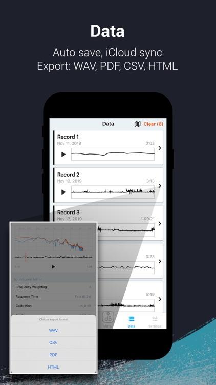 Decibel X PRO: dBA Noise Meter screenshot-3