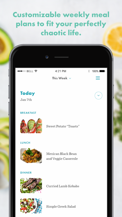 Real Plans - Meal Planner Screenshot