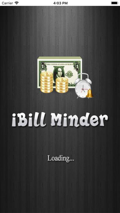 iBillMinder Lite screenshot one