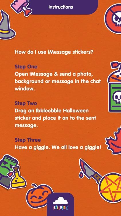 Ibbleobble Halloween Stickers screenshot-3
