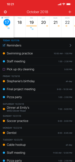 ‎Fantastical 2 for iPhone Screenshot