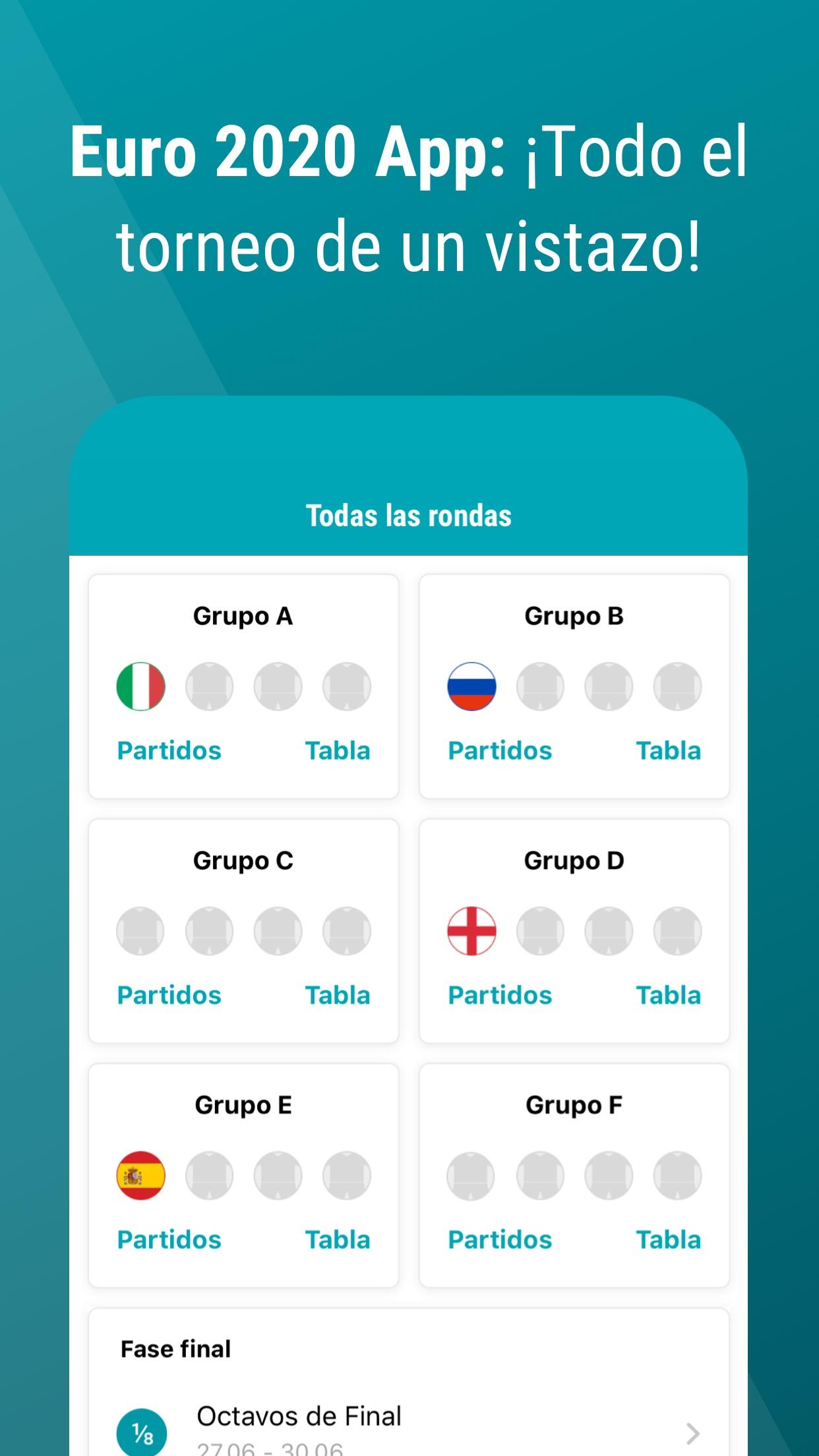Eurocopa App 2020 - GoalAlert Screenshot