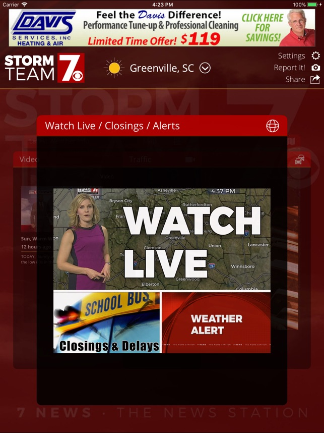 wspa channel 7 closings and delays
