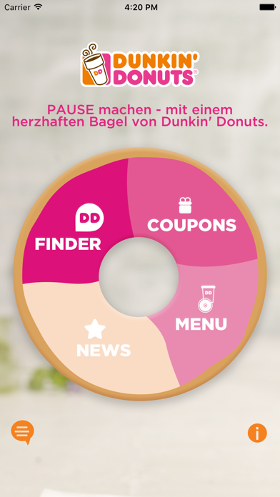 Screenshot for Dunkin' Donuts in Germany App Store