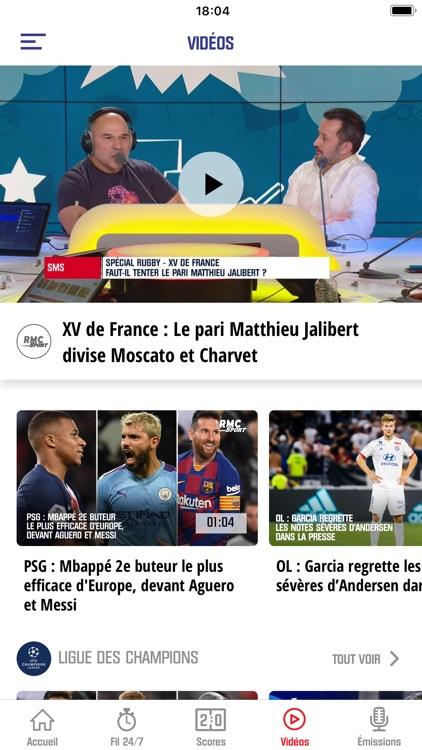 RMC Sport News, Foot en direct