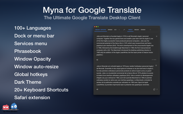 ‎Myna for Google Translate