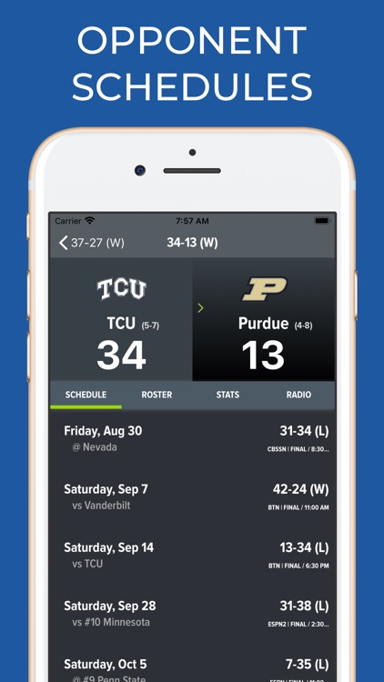 TCU Football Schedules screenshot-7