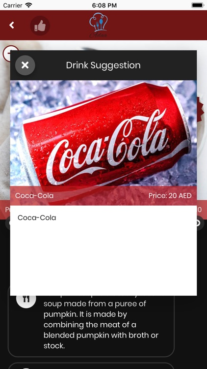 adaa digital menu screenshot-2