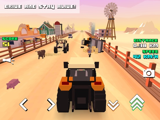 Pixel Farm Racing & Simulator на iPad