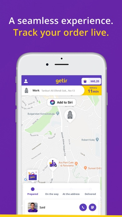 Screenshot for getir in Belgium App Store