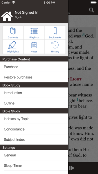 Bible review screenshots