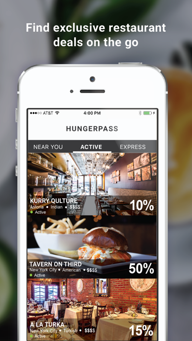 HungerPass - Restaurant Deals screenshot one