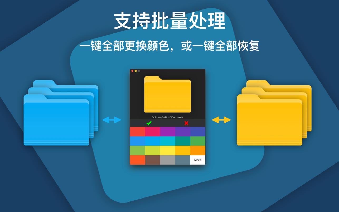 ColorFolder Mac 破解版 一键改变文件夹的颜色-麦氪搜(iMacso.com)