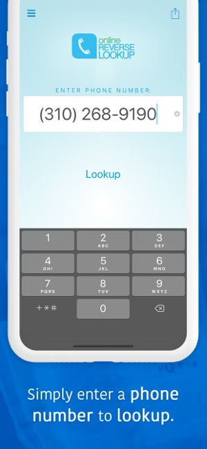 Lookup A Number >> Reverse Lookup On The App Store